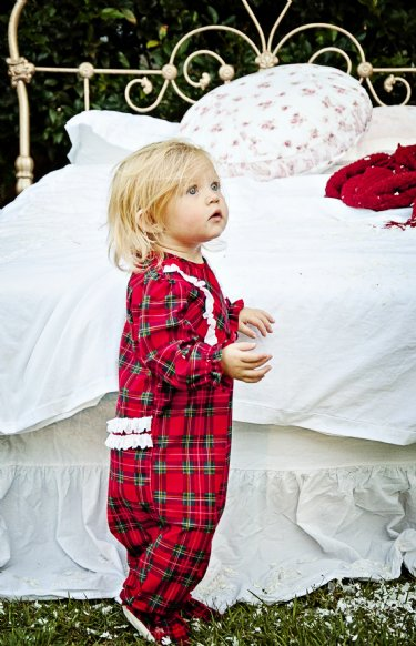 christmas plaid footie sleepernow in stock - Christmas Pjs Toddler