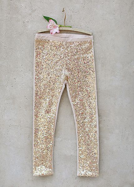 Girls Glam Gold Sequin Legging Flounce Top Also Available ...