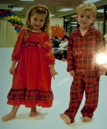 Boys Christmas Button Up Pajamas Matches Sisters Nightgown
