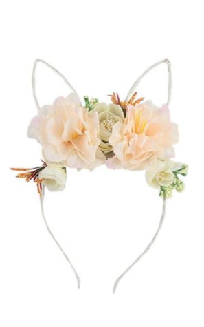Bunny ear floral headband